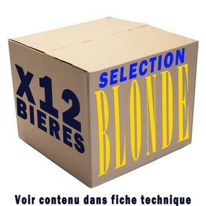 BIÈRE Box de 12 bières Blondes 33cl