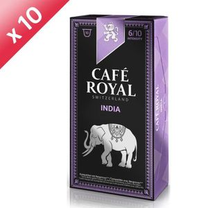 CAFÉ - CHICORÉE Lot de 10 Café Royal Single Origin India Capsules