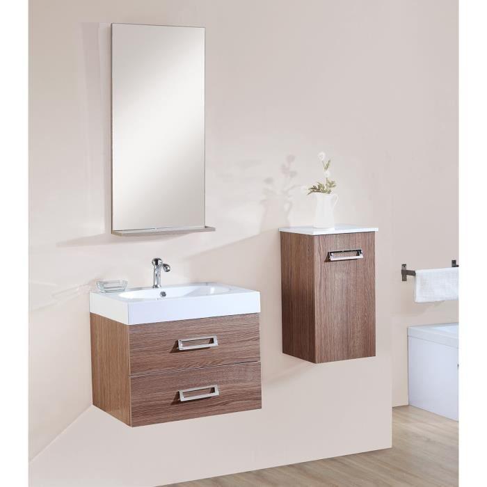 Ida salle de bain compl te simple vasque 60 cm d cor for Vasque salle de bain bois