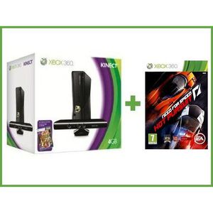 CONSOLE XBOX 360 X360 4 GO KINECT + Need For Speed Hot Pursuit