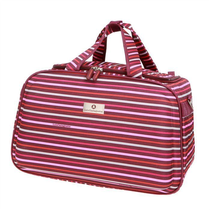 lulu castagnette sac de voyage cabine orange et rose achat vente sac de voyage 3700543745471. Black Bedroom Furniture Sets. Home Design Ideas