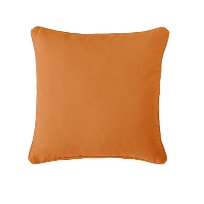 Finlandek coussin uni kajaani 40 cm orange achat vente for Housse de coussin 35x35