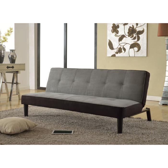 sun banquette convertible lit 3 places gris anthracite. Black Bedroom Furniture Sets. Home Design Ideas
