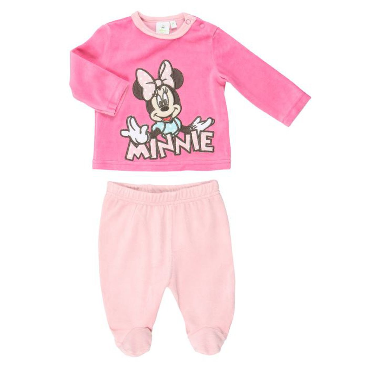 minnie pyjama velours b b fille fuschia et rose achat. Black Bedroom Furniture Sets. Home Design Ideas