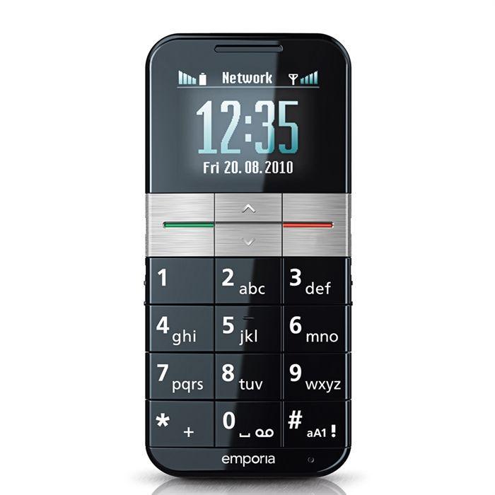 Téléphone portable EMPORIA ELEGANCE Noir