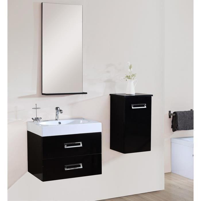Ida set salle de bain noir for Set de salle de bain