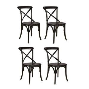 CHAISE ROMANCE Lot de 4 chaises de salle à manger en boul