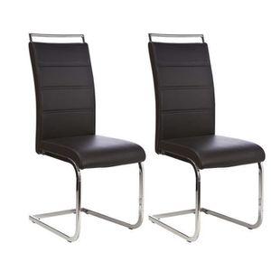 chaise salle a manger noir et chrome achat vente chaise salle a manger noir et chrome pas. Black Bedroom Furniture Sets. Home Design Ideas