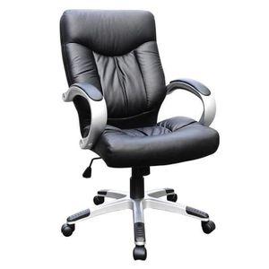Fauteuil de bureau cuir noir achat vente fauteuil de - Fauteuil bureau soldes ...
