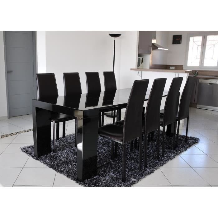 Zack table console extensible 8 personnes 45 200x90 cm for Table extensible 8 personnes