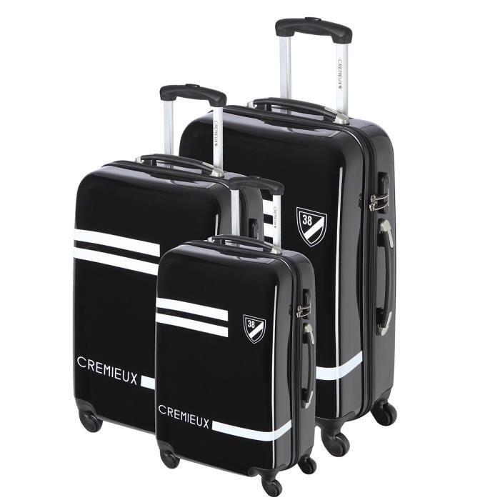 daniel cremieux set de 3 valises abs polycarbonate 4 roues 50 60 70 cm noir noir achat. Black Bedroom Furniture Sets. Home Design Ideas