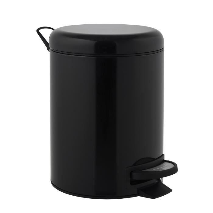 Finlandek Poubelle P Dale De Salle De Bain Seau 5 L Noir Achat Vente Poubelle