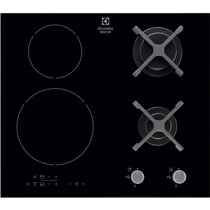 electrolux egd6576nok table de cuisson mixte gaz. Black Bedroom Furniture Sets. Home Design Ideas