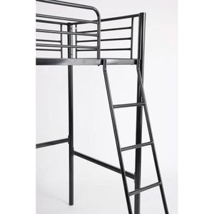 lit mezzanine 1 place achat vente lit mezzanine 1 place pas cher cdiscount. Black Bedroom Furniture Sets. Home Design Ideas