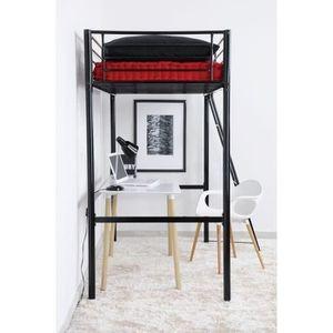 lit mezzanine 90 190 achat vente lit mezzanine 90 190 pas cher cdiscount. Black Bedroom Furniture Sets. Home Design Ideas