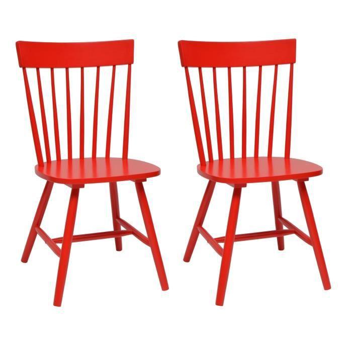 chaise eton lot de 2 chaises de salle manger bois mas - Chaise De Cuisine Retro