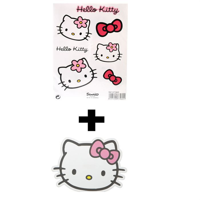 Ensemble Stickers Tapis Antid Rapant Hello Kitty Achat Vente D Coration V Hicule Lot