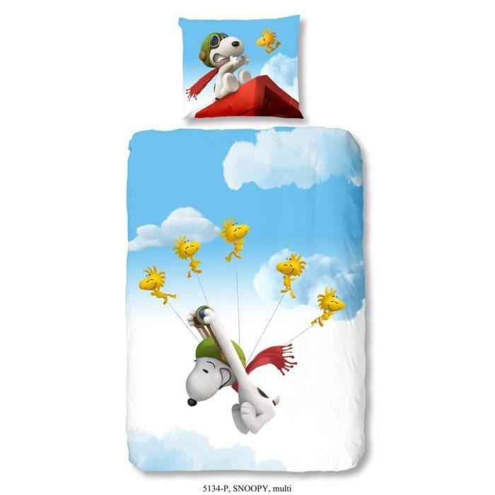 Snoopy parure de couette 100 coton 1 housse de couette - Housse de couette snoopy ...