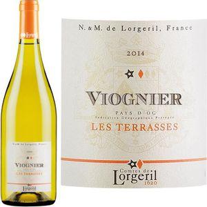 VIN BLANC Lorgeril Les Terrasses Viognier blanc 2015