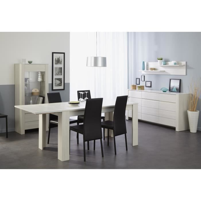 Soho table manger extensible 4 8 personnes 160 204x88 for Table extensible 4 a 8 personnes