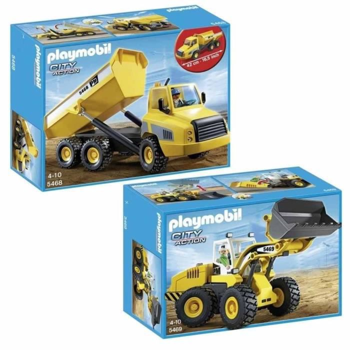 Playmobil pack camion benne 5468 chargeuse 5469 achat - Playmobil camion chantier ...