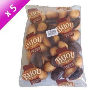 GATEAU PATISSIER BIJOU Lot de 5 Madeleinettes Choco Sachet de 300g