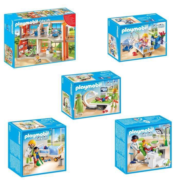 playmobil pack l 39 h pital p diatrique 1 achat vente univers miniature soldes cdiscount. Black Bedroom Furniture Sets. Home Design Ideas