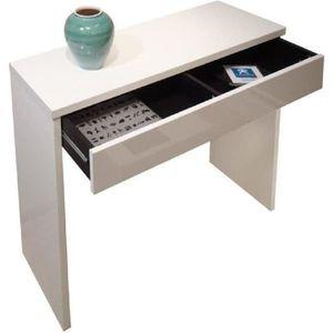 console blanche avec tiroir achat vente console blanche avec tiroir pas cher cdiscount. Black Bedroom Furniture Sets. Home Design Ideas