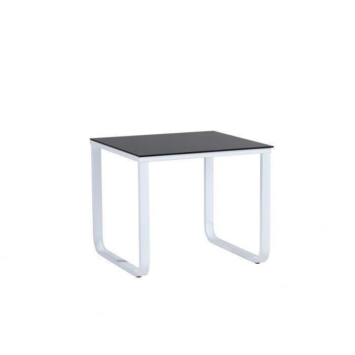 Profil table basse m tal 60cm noir et blanc achat for Table basse metal blanc