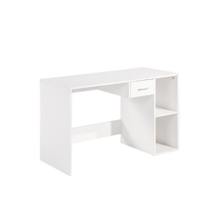 Quatro bureau 120x50x75cm blanc achat vente bureau for Bureau 75 cm