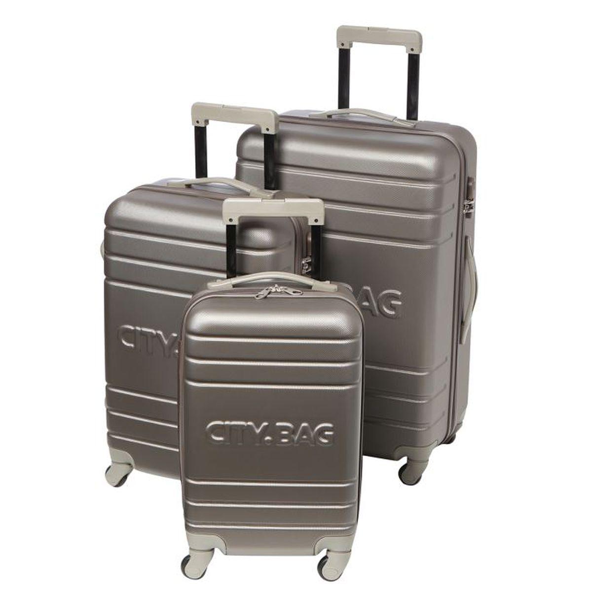 SET DE VALISES CITY BAG Set de 3 valises trolley CHICAGO