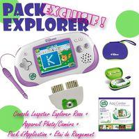 CONSOLE ÉDUCATIVE Pack Exclu Explorer Console + Camera + Jeu + Etui
