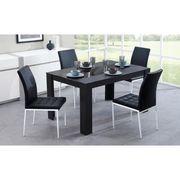 TABLE A MANGER SEULE DAMIA Table à manger 6 personnes 140x90 cm - Noir
