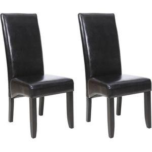 CHAISE CUBA Lot de 2 chaises de salle à manger - Noir