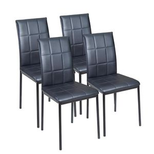 CHAISE DONA Lot de 4 chaises de salle à manger en simi...