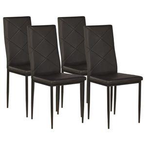 CHAISE LOSANGE Lot de 4 chaises de salle à manger en simi