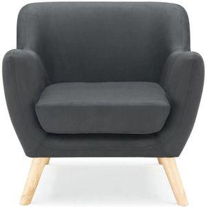 fauteuil norway fauteuil design scandinave tissu noir - Fauteuil Scandinave Enfant