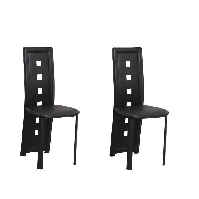 Kim lot de 2 chaises de salle manger en simil achat for Chaise salle a manger de qualite