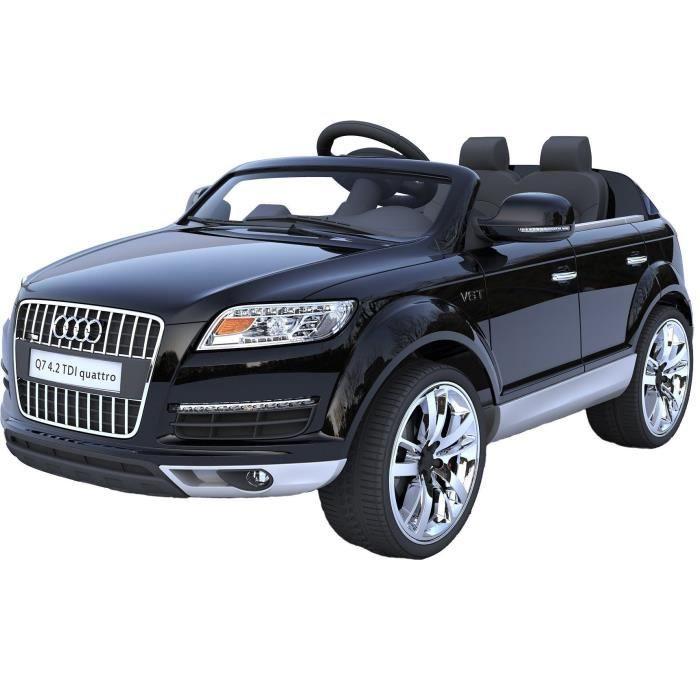 audi q7 voiture electrique pour enfant 12v noir achat. Black Bedroom Furniture Sets. Home Design Ideas