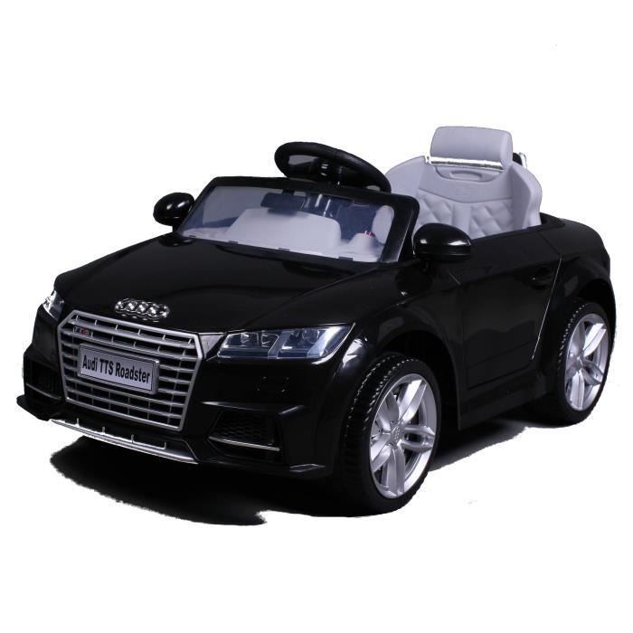 audi tts voiture electrique pour enfant 12v noir achat vente voiture enfant soldes cdiscount. Black Bedroom Furniture Sets. Home Design Ideas