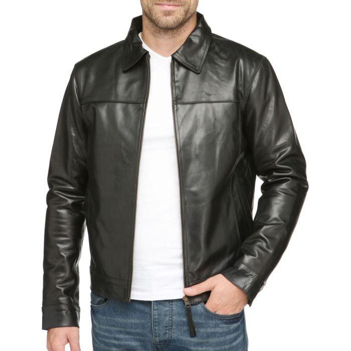 riverskin veste blouson en cuir homme noir achat vente blouson cdiscount. Black Bedroom Furniture Sets. Home Design Ideas