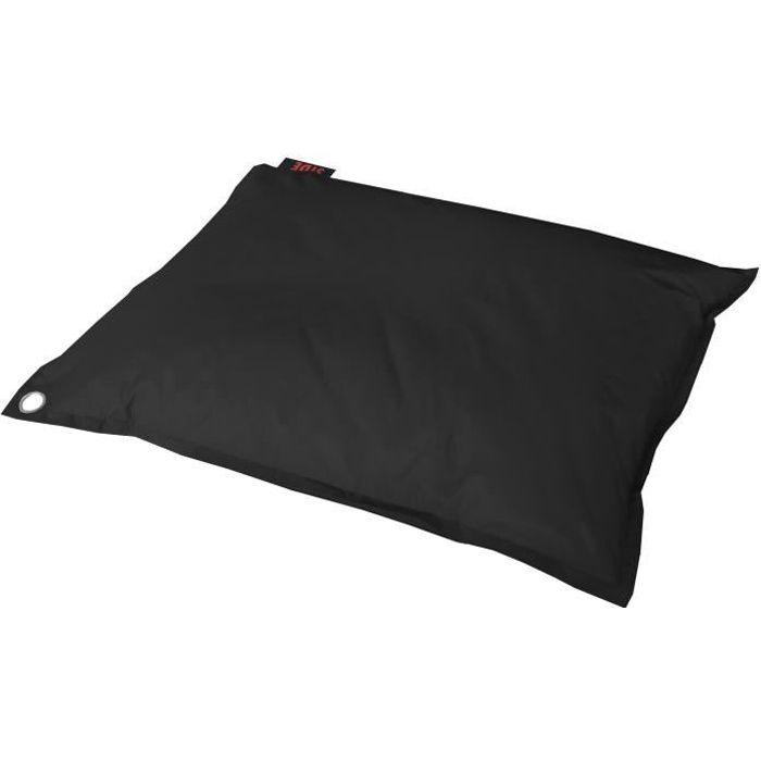 java pouf g ant imperm able 110x130 cm noir achat vente pouf poire polyester enduit pvc. Black Bedroom Furniture Sets. Home Design Ideas