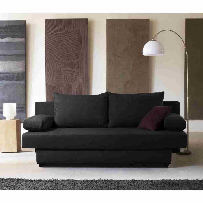 sacha banquette convertible lit coffre rangement 3. Black Bedroom Furniture Sets. Home Design Ideas