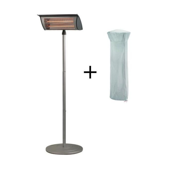 parasol chauffant lectrique 2000 w avec sa housse achat vente chauffage ext rieur parasol. Black Bedroom Furniture Sets. Home Design Ideas