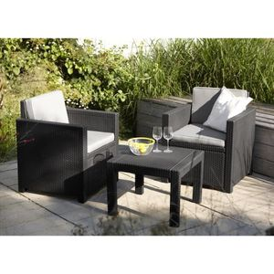 salon de jardin pour balcon achat vente salon de jardin pour balcon pas cher cdiscount. Black Bedroom Furniture Sets. Home Design Ideas