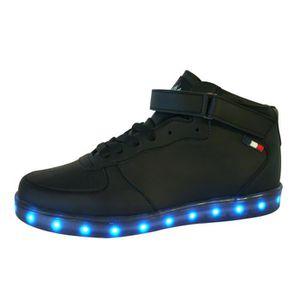 BASKET Baskets LED Recharge USB Chaussures Lumineuses Fem