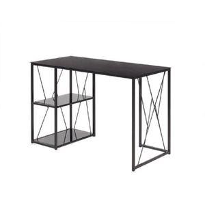 bureau noir laque achat vente bureau noir laque pas cher cdiscount. Black Bedroom Furniture Sets. Home Design Ideas