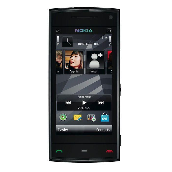nokia x6 00 noir achat t l phone portable pas cher avis et meilleur prix cdiscount. Black Bedroom Furniture Sets. Home Design Ideas