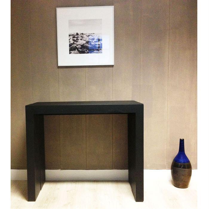 extenso console extensible 200cm laqu e noir achat. Black Bedroom Furniture Sets. Home Design Ideas