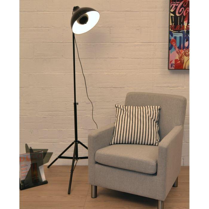 projo lampadaire projecteur noir achat vente projo. Black Bedroom Furniture Sets. Home Design Ideas